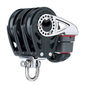 HARKEN HA2140 57 mm Triple Ratchet Block Swivel, Cam Cleat
