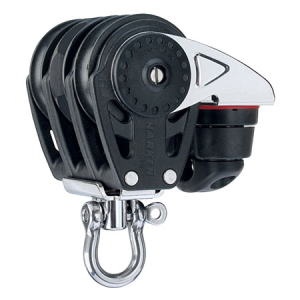 HARKEN HA2612 40 mm Triple Ratchet Block Swivel, Cam Cleat