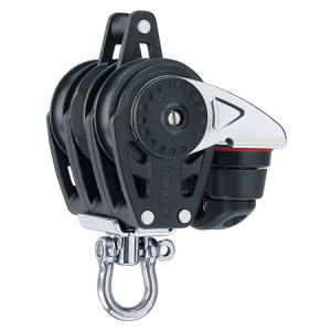 HARKEN HA2613 40 mm Triple Ratchet Block Swivel, Becket, Cam Cleat
