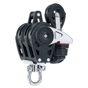 HARKEN HA2619 40 mm Triple Ratchet Block Swivel, Becket, Cam Cleat, 29mm Block